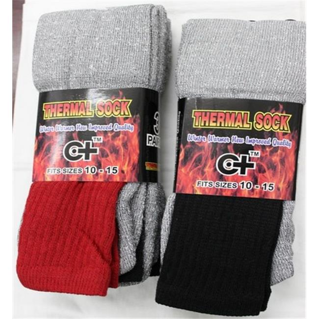 Cotton Plus Wholesale Thermal Boot Socks, Red - Case of 120