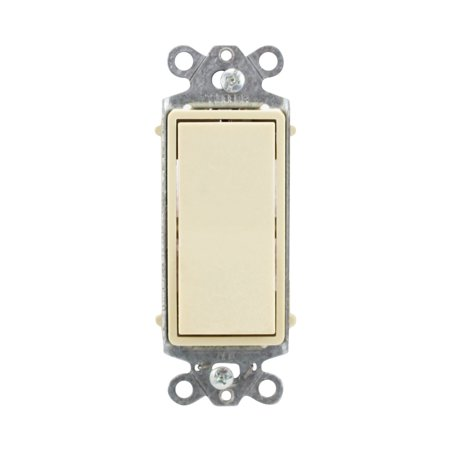 Hubbell HBL2121I Single Pole Rocker Wall Switch 20A 120/277V Style Line, Ivory Rocker Style Switch