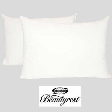 Simmons Beautyrest Classic 200 Thread Count Twin Pack Bed Pillows Simmons Beautyrest Classic 200 Thread Count Twin Pack Bed Pillows are the perfect place to lay your head at night. The pillows are designed for all sleep positions. The brushed microfiber cover and 200 thread count make these pillows wonderful. The pillows are filled with premium hypoallergenic micro down fiberfill. Two Jumbo pillows 20  X 28 . Designer Bed Sheets
