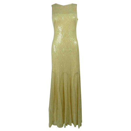 Lauren Ralph Lauren Women's Sequined Lace Gown