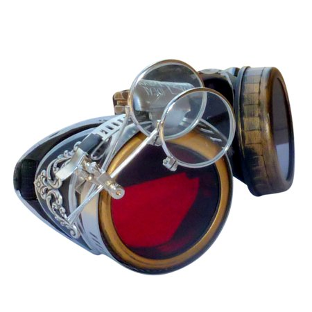 Steampunk GoggLes VicTORian Novelty Glasses cosplay Halloween costume accessory s3 by UmbrellaLaboratory (Halloween Goggles)