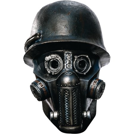 Sucker Punch Deluxe Gas Mask Zombie Overhead Latex Adult Costume Mask