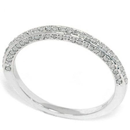 1/2ct Pave Round Diamond Wedding Ring 14K White Gold - image 2 of 2
