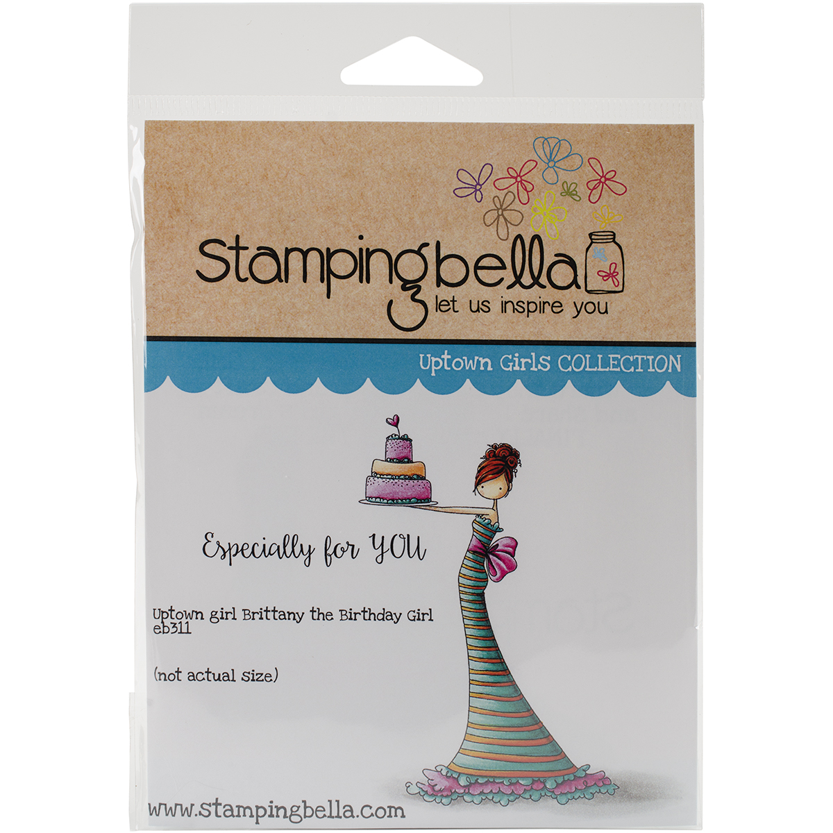 """Stamping Bella Cling Rubber Stamp, 6.5"""" x 4.5"""", Brittany The Birthday Girl"""