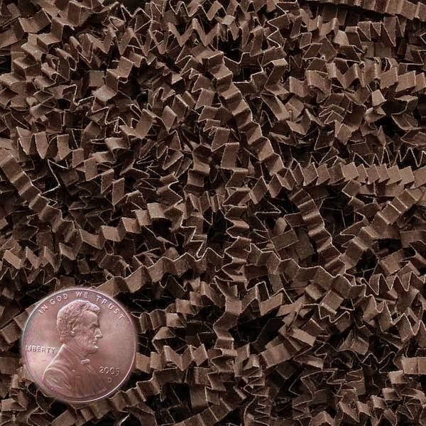 Brown Crinkle Cut Paper Shred by CRINKLE CUT by Paper Mart