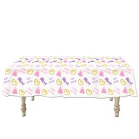 """Pack of 12 Princess Party Disposable Plastic Party Banquet Table Covers 108"""""""
