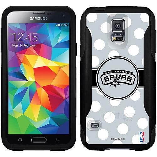 San Antonio Spurs Polka Dots Design on OtterBox Commuter Series Case for Samsung Galaxy S5