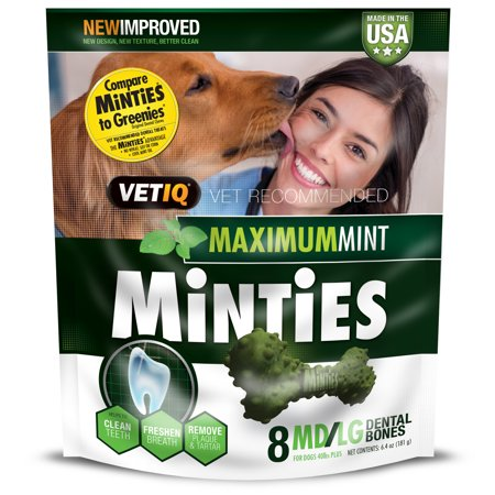Minties Teeth Cleaner Dental Dog Treats Medium/Large, 8 Count](Halloween Apple Teeth Treats)