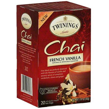 Twinings Of London Chai French Vanilla Tea Bags, 20ct (Pack of 6) - Walmart.com