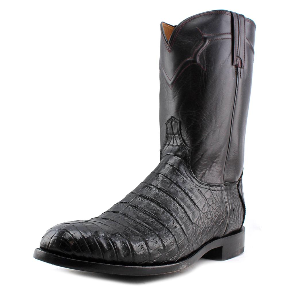 Lucchese Dustin Caiman Men  Round Toe Leather Multi Color...