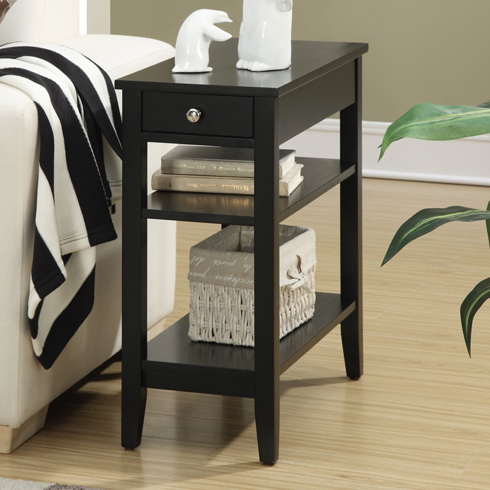 Convenience Concepts American Heritage 3-Tier End Table with Drawer, Multiple Colors by Convenience Concepts