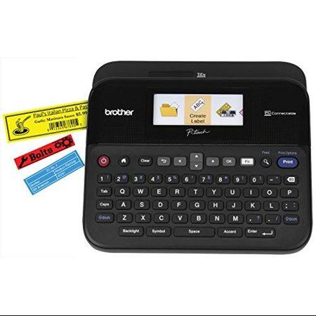 """Brother Pc-connectable Label Maker With Color Display 1.18 In s Mono Label, Tape0.14"""", 0.24"""",... by"""