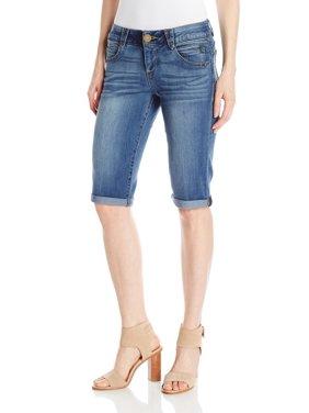 Democracy NEW Black Womens Size 10 Ab Solution Mold & Hold Denim Shorts
