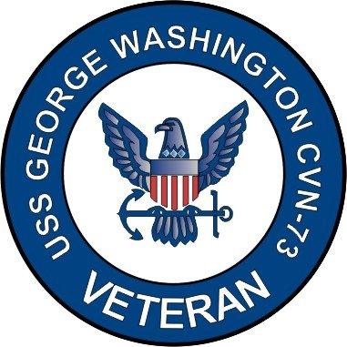 "USS GEORGE WASHINGTON CVN 73 Decal 6/""X 6/"" US NAVY"