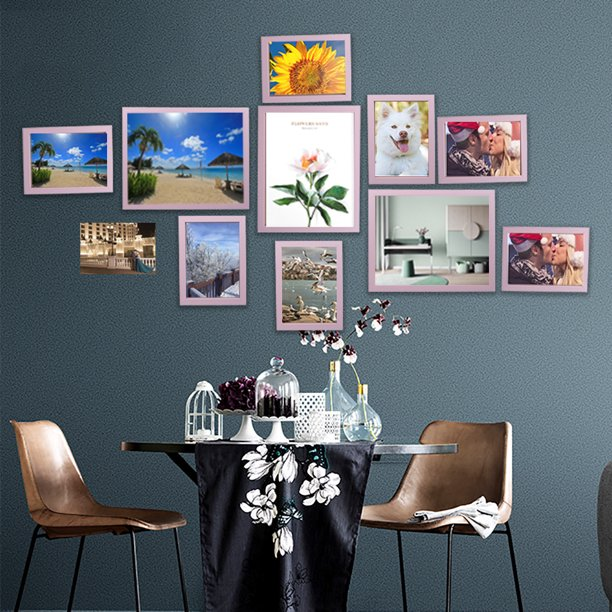 11pcs Set Modern Wall Hanging Photo Frame Set Art Home Decor Family Picture Display Living Room Hallway Bedroom Wall Decoration 3pcs 10inch 8pcs 7inch Walmart Com Walmart Com