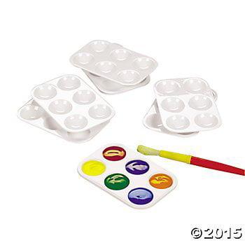 Fun Express Paint Plastic Palettes - 12 - Paint Palettes