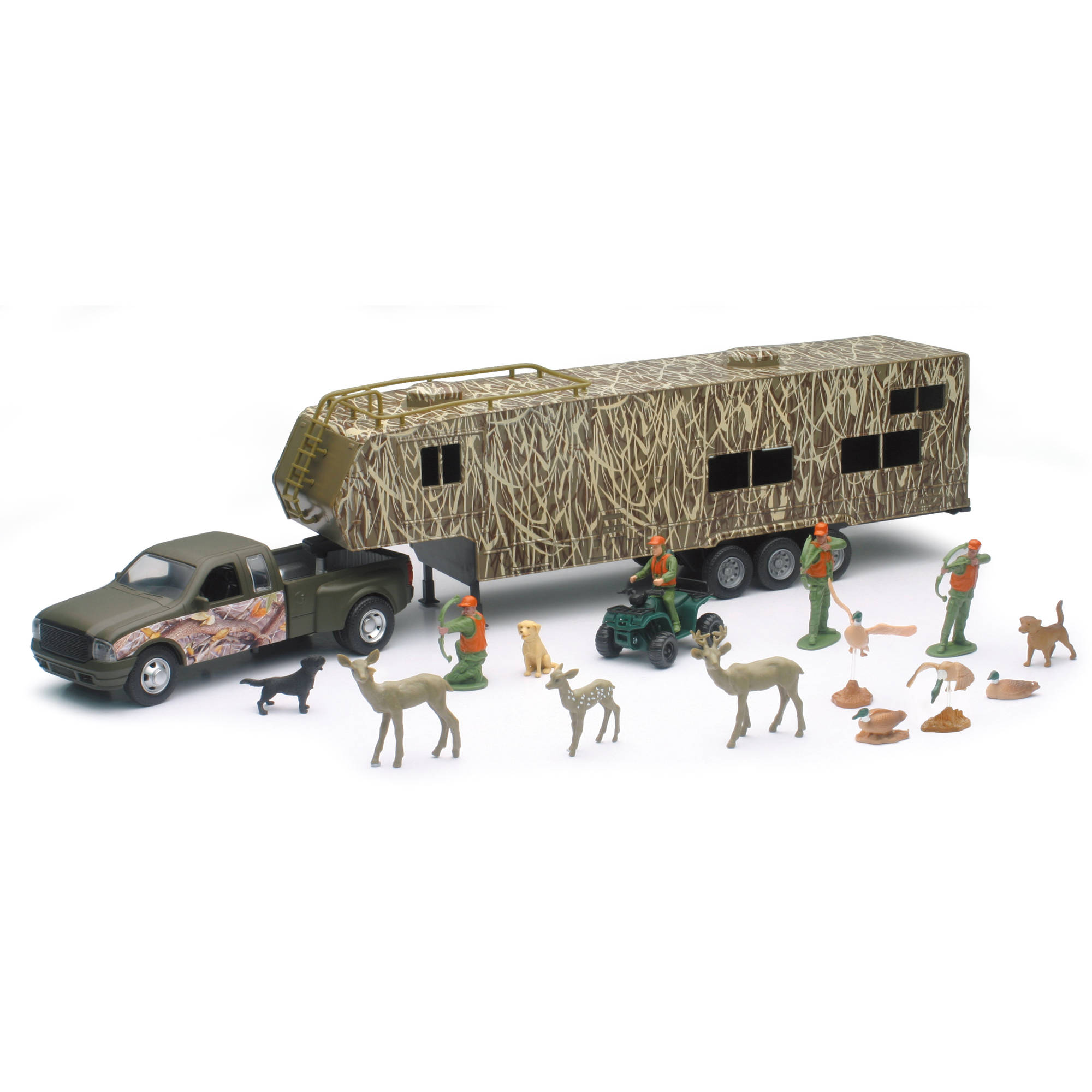 Wildlife Hunter Die Cast Fifth Wheel with Camo Camper and Deer Set by Dongguan Popak New-Ray Toys Manufacturing Ltd