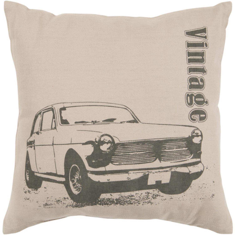 "22"" Wenge and Khaki ""Vintage"" Chevrolet Decorative Throw Pillow"