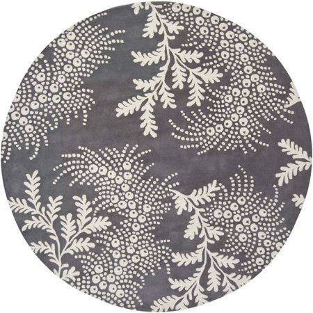 Contemporary Rowe Collection Area Rug in Gray White and