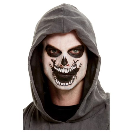 White Skeleton Mouth Face Unisex Adult Halloween Makeup Kit Costume Accessory - One