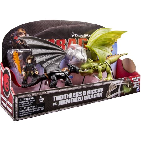 Toothless & Hiccup vs Armored Dragon Action Figure 3-Pack