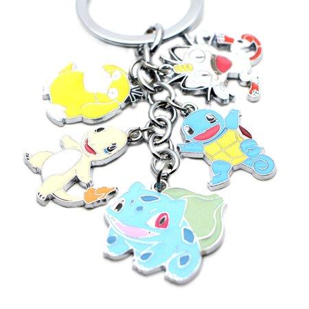 Pokemon Keychain Key Ring Anime Manga Game Gaming Movies Auto/Boat House Keys - Gaming Keychains