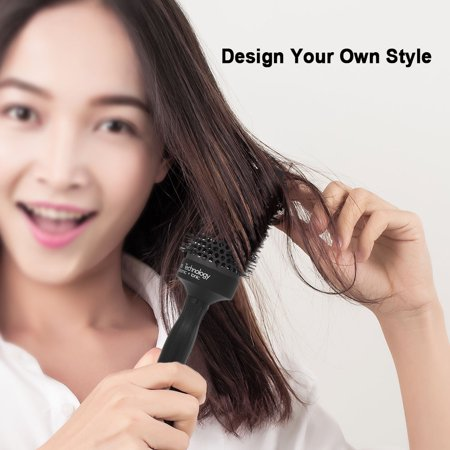 Nano Ceramic Ionic Round Hair Brush Salon Curling Combs Hair Roller Styling Round Combs High Temperature Resistant Massage Brush - image 3 of 7