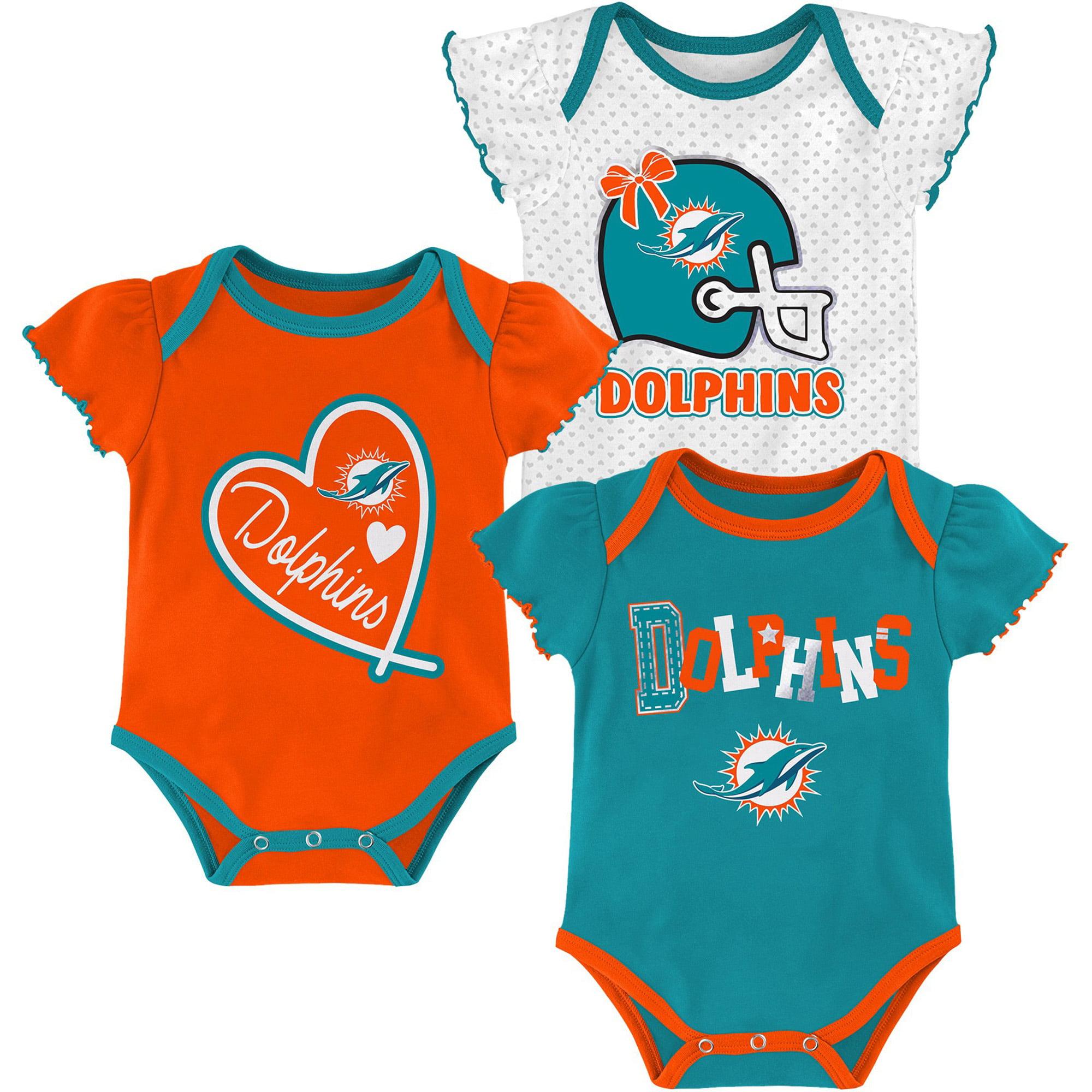 Miami Dolphins Toddler Hair Bow Set Teal or Orange