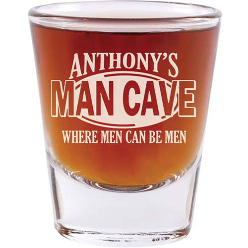 Personalized Man Cave Shot Glass Set