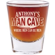 Personalized Man Cave Shot Glass - Set of 4