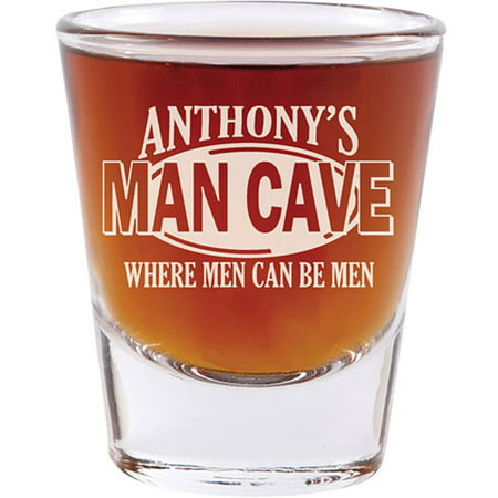 Personalized Man Cave Shot Glass - Set of 4 - Personalized Shot Glass No Minimum