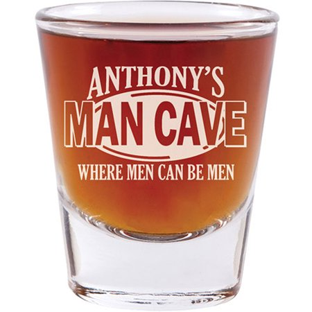 Personalized Man Cave Shot Glass - Set of - Personalized Shot Glasses Cheap No Minimum
