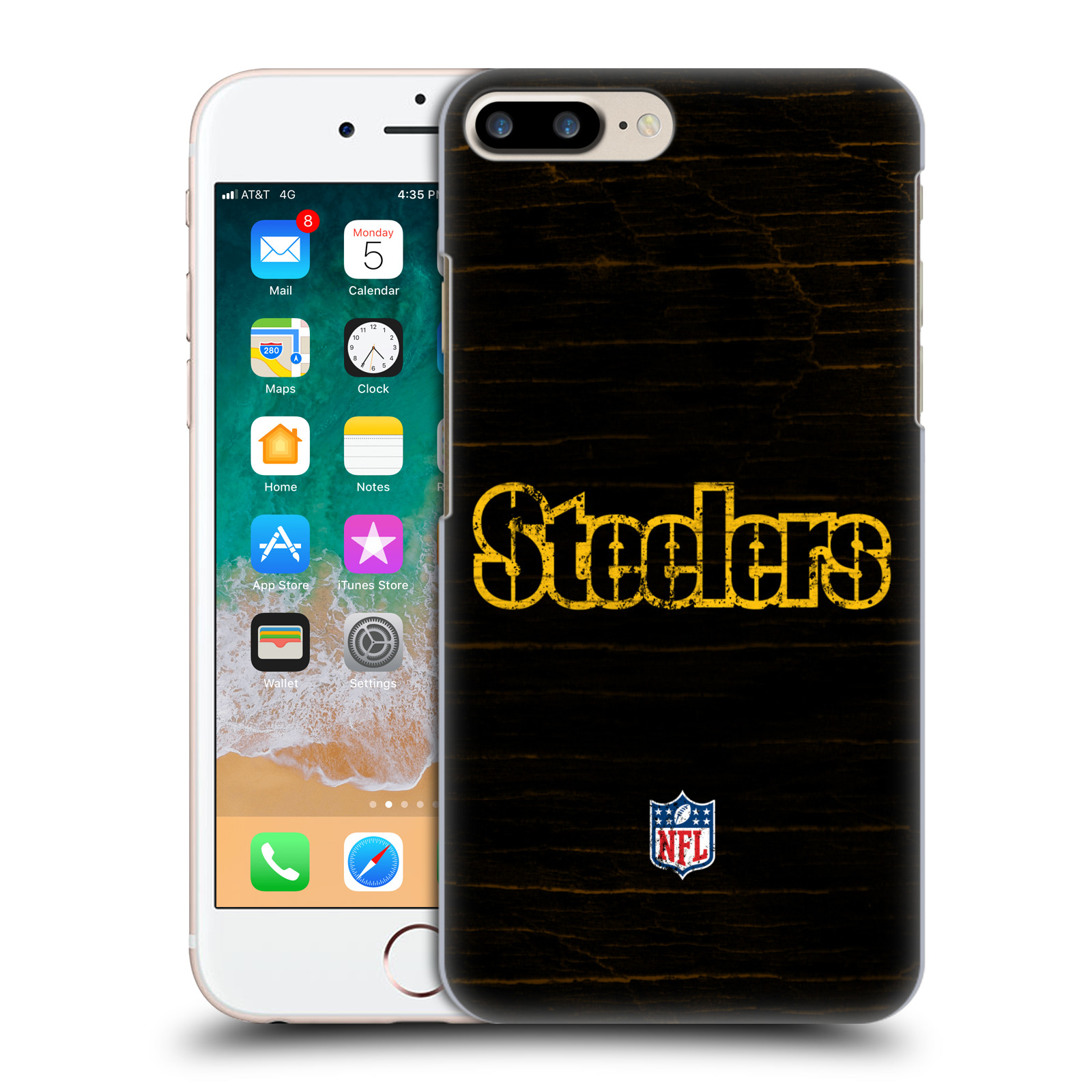 OFFICIAL NFL PITTSBURGH STEELERS LOGO HARD BACK CASE FOR APPLE IPHONE PHONES