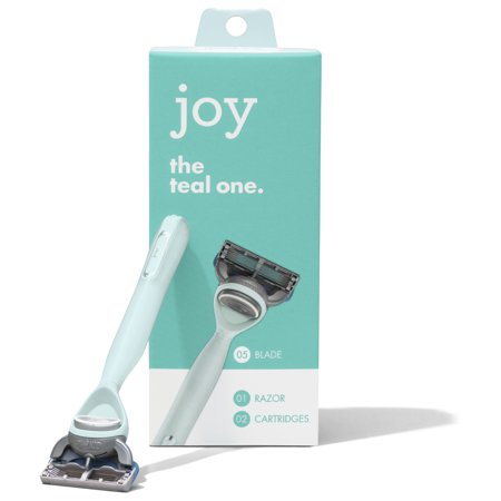 joy Razor, Handle + 2 razor blade refills (Teal)