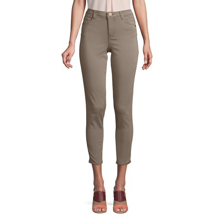 High-Rise Cropped Ankle Jeans