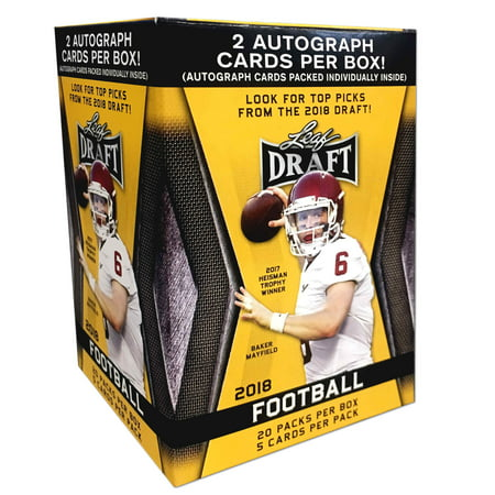 2018 Leaf NFL Football Draft Picks Value Box Trading Cards