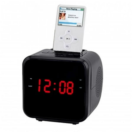 Supersonic IQ-1303BLACK 1.2 in. Ipod, Iphone Docking Station with AM, FM Radio & Alarm