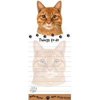 """Tabby Cat Magnetic List Pads"" Uniquely Shaped Sticky Notepad"