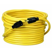 Coleman Cable 09208 12/3 50' Yellow SJTW NEMA Extension Cord