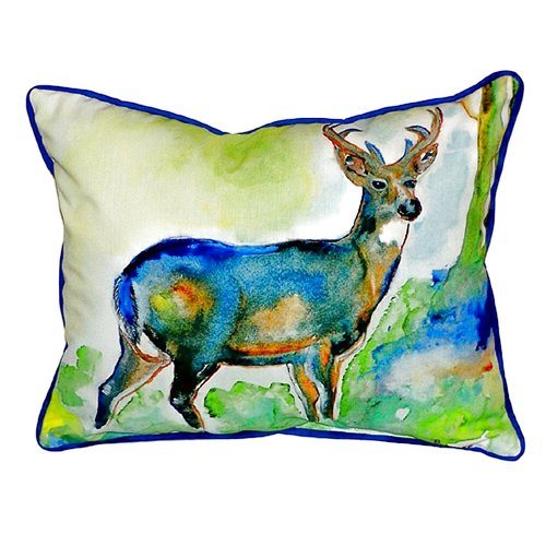 Betsy Drake Interiors Deer Indoor/Outdoor Lumbar Pillow