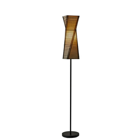 """68"""" Stix Collection Floor Lamp Brown - Adesso"""