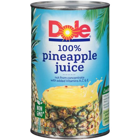 dole 100 pineapple juice 46 fl oz can