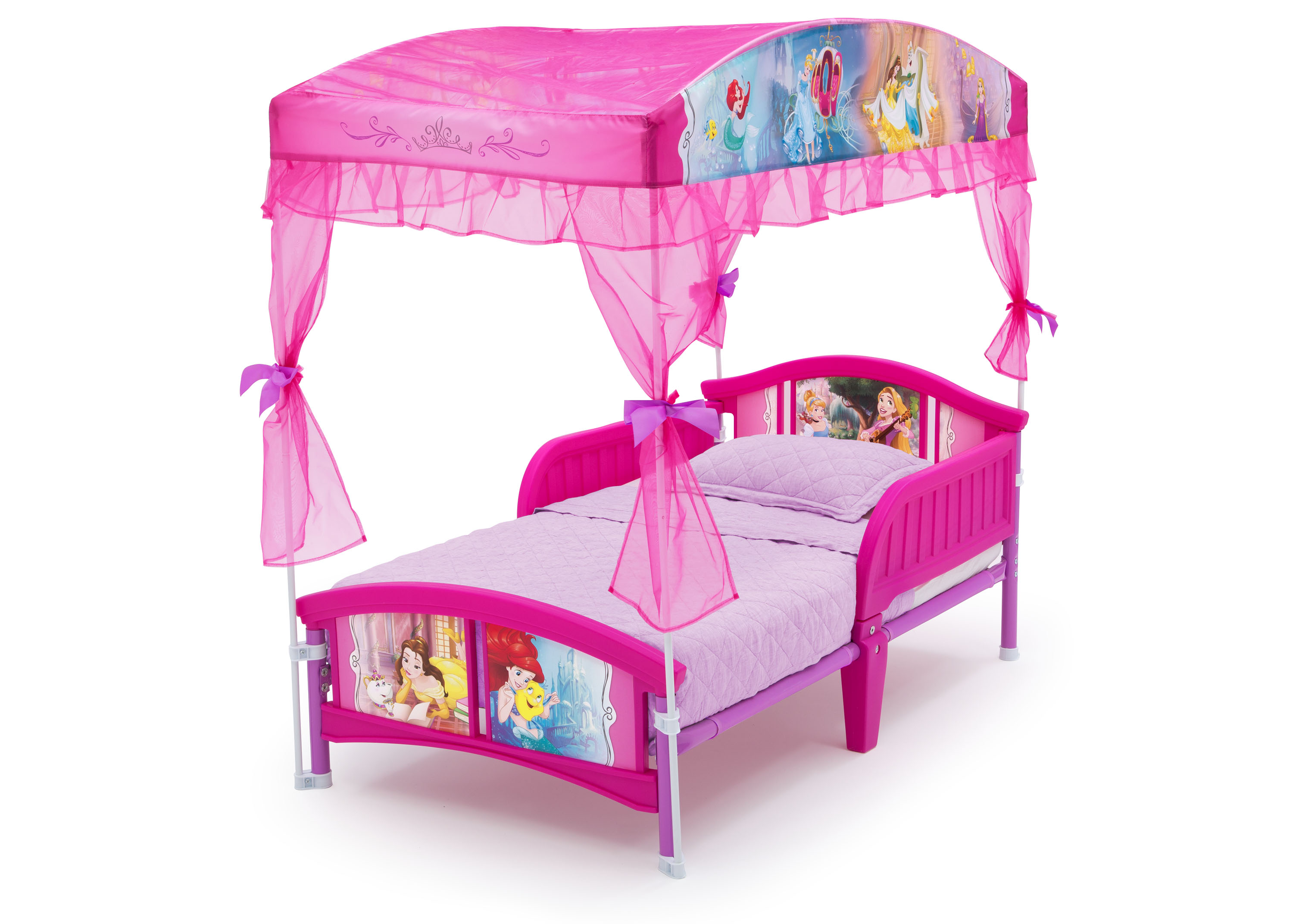- Delta Children Disney Princess Plastic Toddler Canopy Bed, Pink
