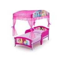Delta Children Disney Princess Plastic Toddler Canopy Bed, Pink