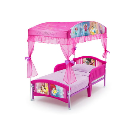 Delta Children Disney Princess Plastic Toddler Canopy Bed,