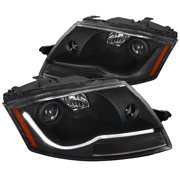 Spec-D Tuning 1999-2006 Audi Tt Led Light Bar Projector Headlights Head Lamps 1999 2000 2001 2002 2003 2004 2005 2006 (Left + Right)