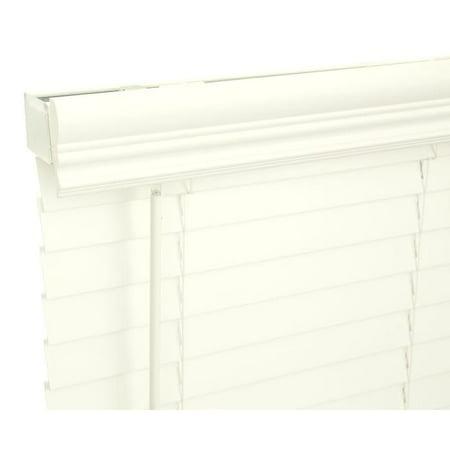 Lotus & Windoware, Inc Lotus & Windoware 34x60 Alabaster Faux Wood Blind