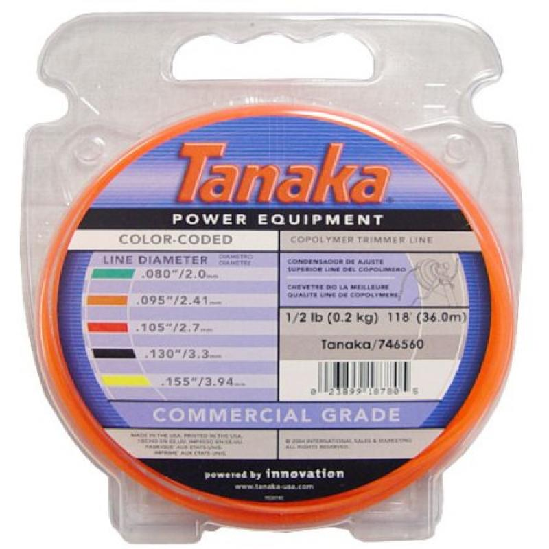 Tanaka Color-Coded Round String Trimmer Line 095-Inch x 143' 746560