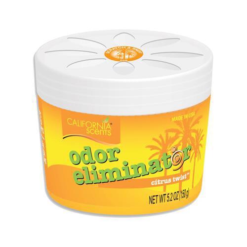 California Scents ELM-1245 Car Air Freshener, Odor Eliminator, Citrus Twist, 5.2-oz. gel - Quantity 12