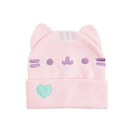 16d4098f857 Pusheen - Pusheen Cuffed beanie with Ears - Pusheen the Cat Beanie Hat -  Pink - Walmart.com